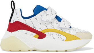 Stella McCartney Eclypse Printed Faux Leather And Suede Exaggerated-sole Sneakers