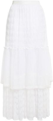 Missoni Mare Tiered Metallic Crochet-knit Maxi Skirt