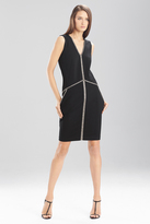 Josie Natori Double Knit Jersey Wedge Dress