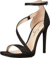 Jessica Simpson Women's Rayli Black Jessica Sparkle Sandal 10 M