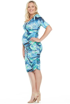 Blooming Woman Blooming Women Maternity Printed Bodycon Dress