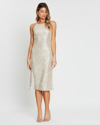 Atmos & Here Margo Sequin Midi Dress
