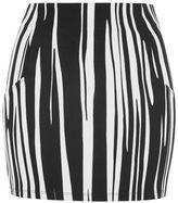 Topshop Oil stripe mini skirt