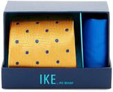 Ike Behar Chevron Dot Silk Tie & Handkerchief
