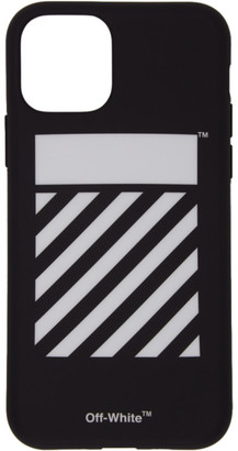 Off-White SSENSE Exclusive Black and White Diag iPhone 11 Pro Case