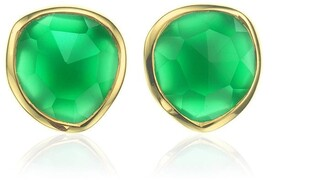 Monica Vinader Siren Stud Green Onyx earrings