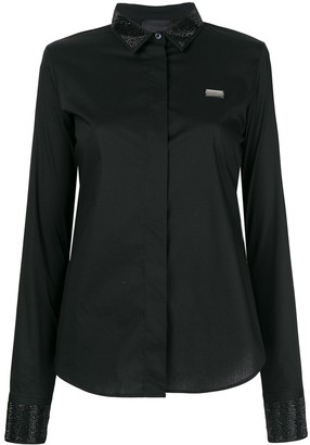 Philipp Plein Embellished Collar Shirt