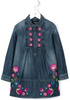 DSQUARED2 floral embroidered denim dress