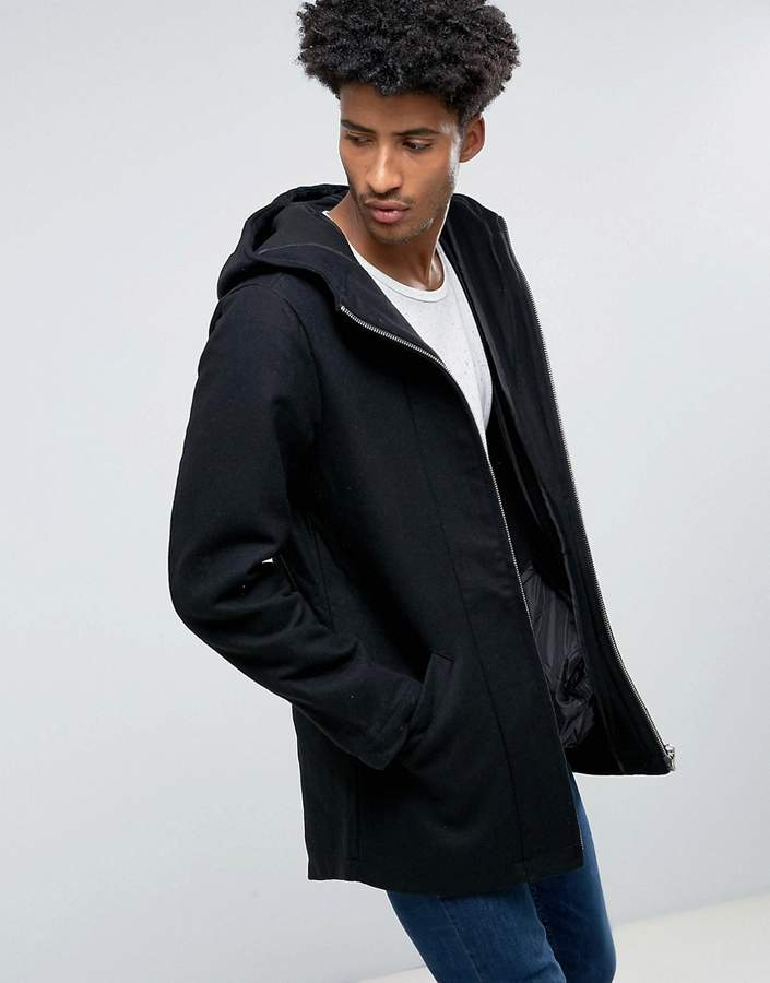 Bellfield Bonded Wool Mix Parka