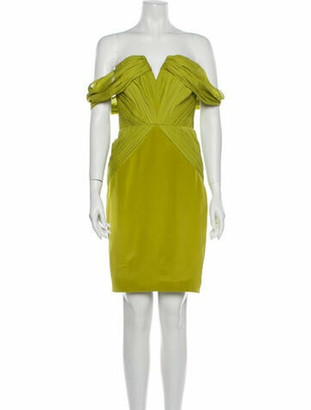 Cushnie Silk Mini Dress Green
