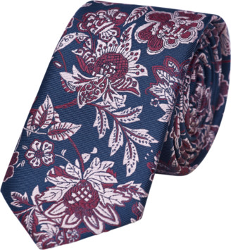 yd. Navy/Red Nathan Floral 6.5cm Tie