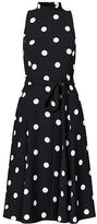 Ralph Lauren Polka-Dot Crepe Midi Dress