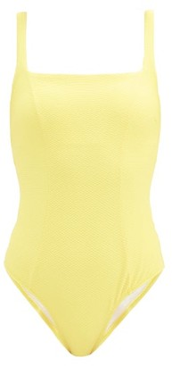 Heidi Klein Cancun Textured Swimsuit - Yellow