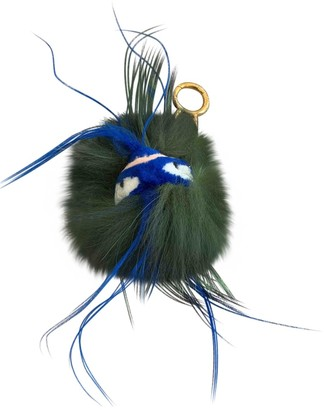 Fendi Karlito Green Mink Bag charms