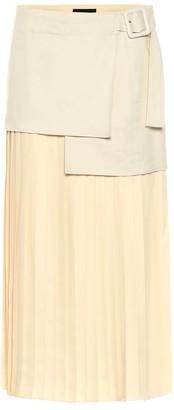 Joseph Billie BouclA Fuji silk midi skirt