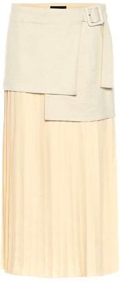 Joseph Billie Boucle Fuji silk midi skirt