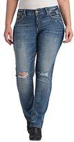 Silver Jeans Women's Plus Size Suki Rise Straight Leg Jean
