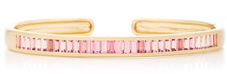 Jane Taylor Cirque Wide Hinged Oval Cuff with Vertical Pink Tourmaline Baguettes