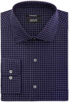 Alfani Men's Big and Tall Classic/Regular Fit Performance Stretch Easy Care Box Print Dress Shirt, Created for Macy's