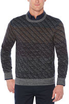 Perry Ellis Ombre Jacquard Crew Sweater