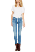 Mother Blue Pixie Skinny Jeans