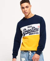 Superdry Vintage Logo Panel Crew Sweatshirt