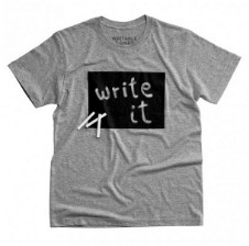 March - Gray T-shirt To Write - Grey