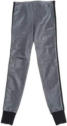 Balenciaga Blue Leather Trousers