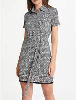 Max Studio Print Jersey Shirt Dress, Black/Multi