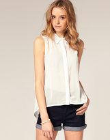 Sheer Sleeveless Shirt