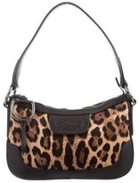 Dolce & Gabbana Leopard Print Canvas Shoulder Bag