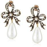 Azaara Crystal and Majorca Simulated Pearl Drop Earrings