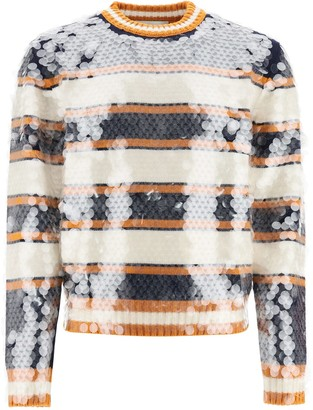 Lanvin Striped Sweater With Sequins