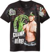 WWE Big Boys' John Cena The Champ Is Here Short Sleeve Tee With Sleeve Hit
