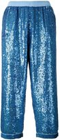 Ashish Sequin Embellished Trousers - women - Cotton/Polyester/Sequin - M