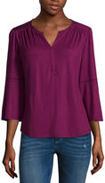 Liz Claiborne Long Sleeve Knit Blouse-Talls