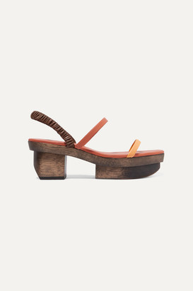 Cult Gaia Fifi Leather Platform Sandals - Orange