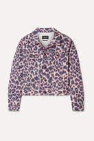 Calvin Klein 205w39nyc CALVIN KLEIN 205W39NYC - Leopard-print Denim Jacket - Leopard print