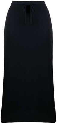 Pringle Drawstring Midi Skirt