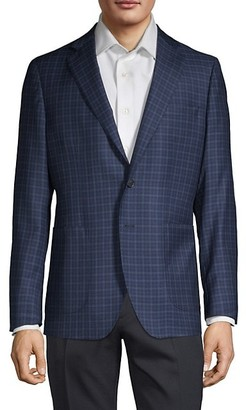 Saks Fifth Avenue Made In Italy Classic Check Sport Jacket