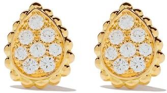 Boucheron 18kt yellow gold Serpent Boheme diamonds XS motif teardrop stud earrings