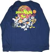 Fashion Looney Tunes Space Jam Navy Long Sleeve Graphic T-Shirt - 2XL