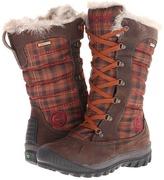 Timberland Mount Holly Faux Fur Boot (Dark Brown/Brown Plaid) - Footwear