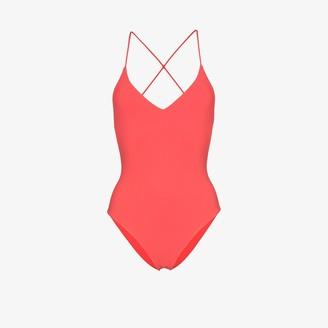 Anémone Criss-cross strap swimsuit