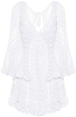 Anna Kosturova Chloe crochet-cotton minidress