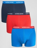 Bjorn Borg 3 Pack Trunks Multi Navy