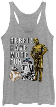 Fifth Sun Star Wars Rebels Have More Fun Droids Tri-Blend Racer Back Tank