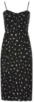 Topshop Scatter Floral Button Midi Dress
