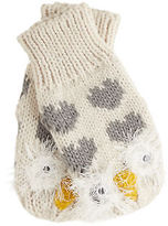Joe Browns Women's Snow Owl Fluffy Mittens