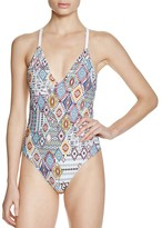 Red Carter Free Spirit Braided Back One Piece Swimsuit